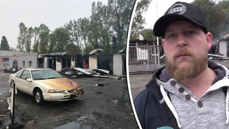 eigenaar brand scooterbedrijf