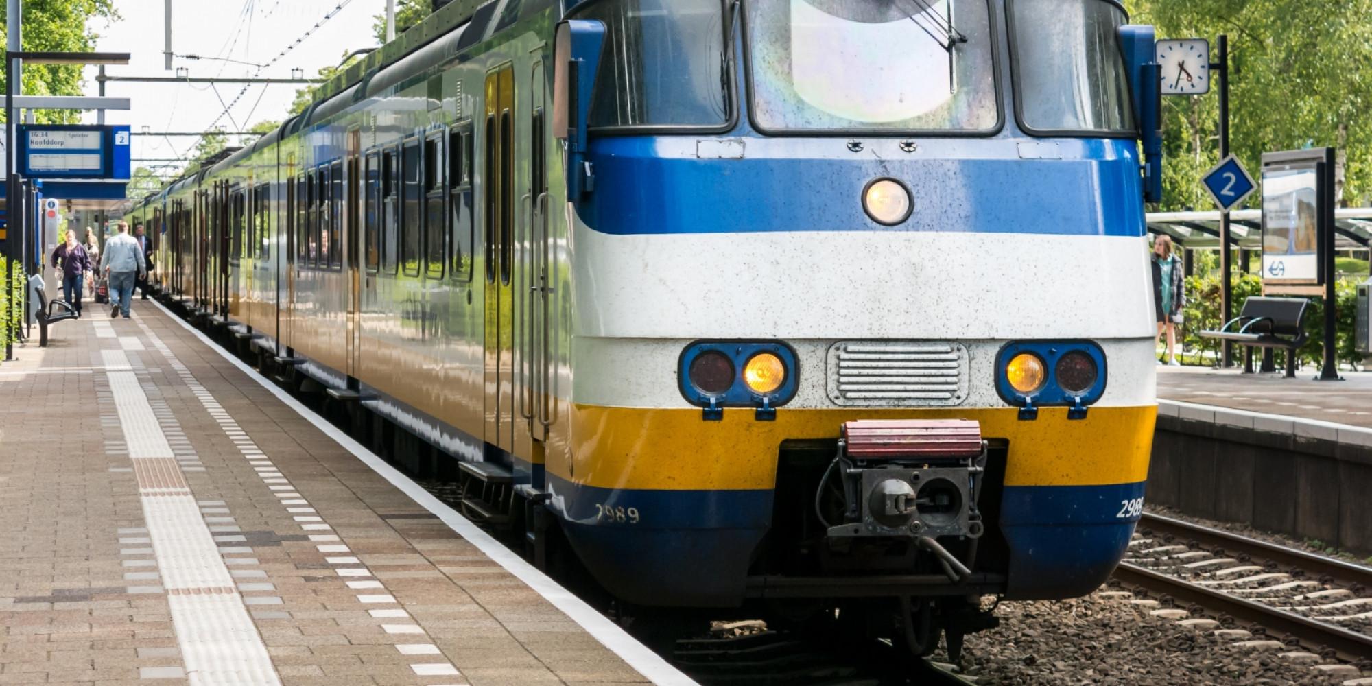 trein station Hilversum stock