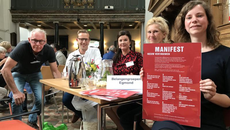 Manifest voor burgemeester Bergen