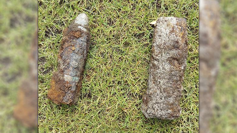 Voor de zekerheid toch maar de politie gebeld voor opgegraven granaten in achtertuin