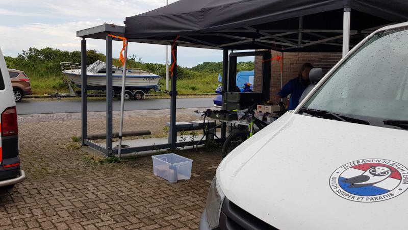 Basiskamp zoekactie duingebied IJmuiden vermiste Beverwijkse