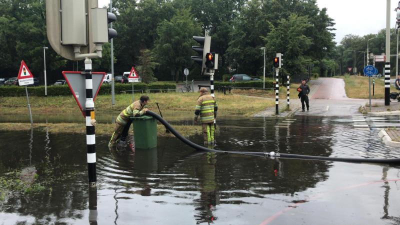 Kruispunt Amersfoortsestraatweg Bussum wateroverlast
