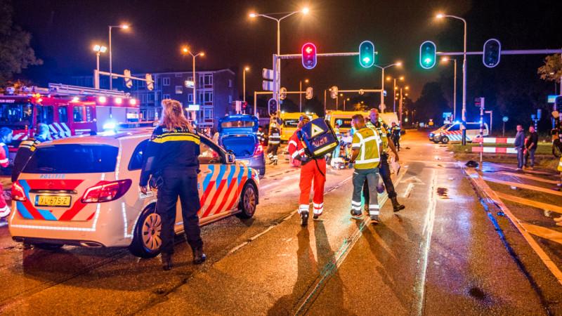 Ongeluk in Beverwijk Plesmanweg