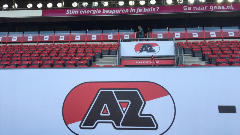 In beeld: ook FC Twente-stadion verwelkomt AZ met kleine metamorfose