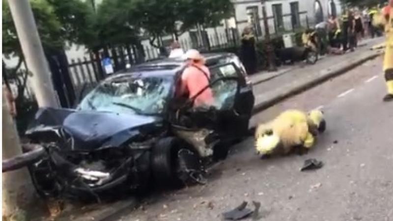 Meerdere gewonden bij zeer ernstig ongeluk Amsterdam.
