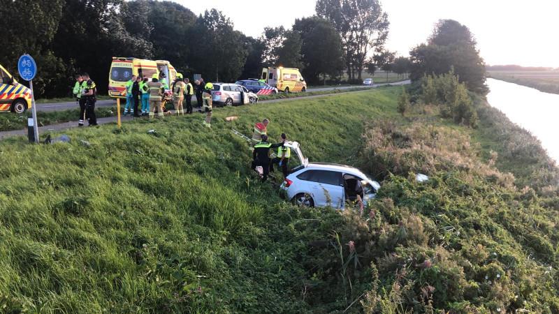 Vier gewonden bij ernstig ongeluk in Slootdorp.