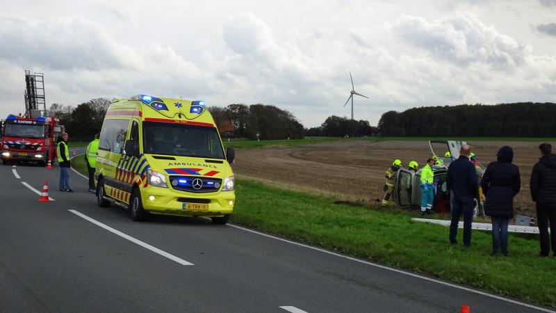 Twee zwaargewonden bij eenzijdig ongeluk Slootdorp.