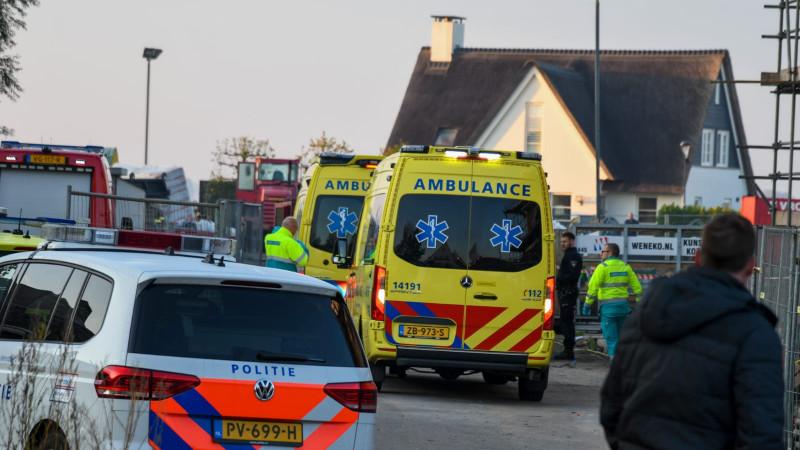 Bouwvakker overleden na ongeluk op bouwplaats Loosdrecht.