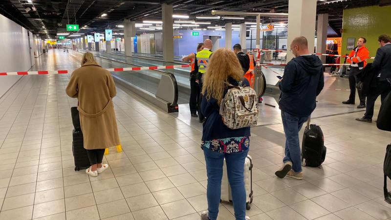 Reizigers gestrand op Schiphol