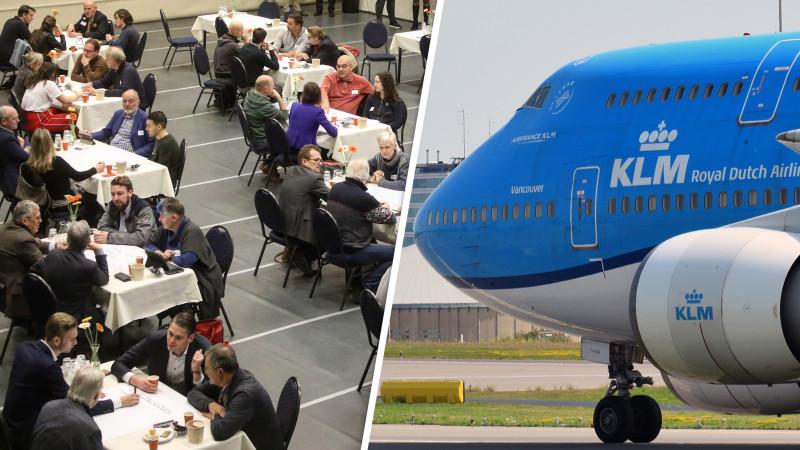 Concrete voorstellen bij de eerste burgertop over Schiphol in Wijk aan Zee