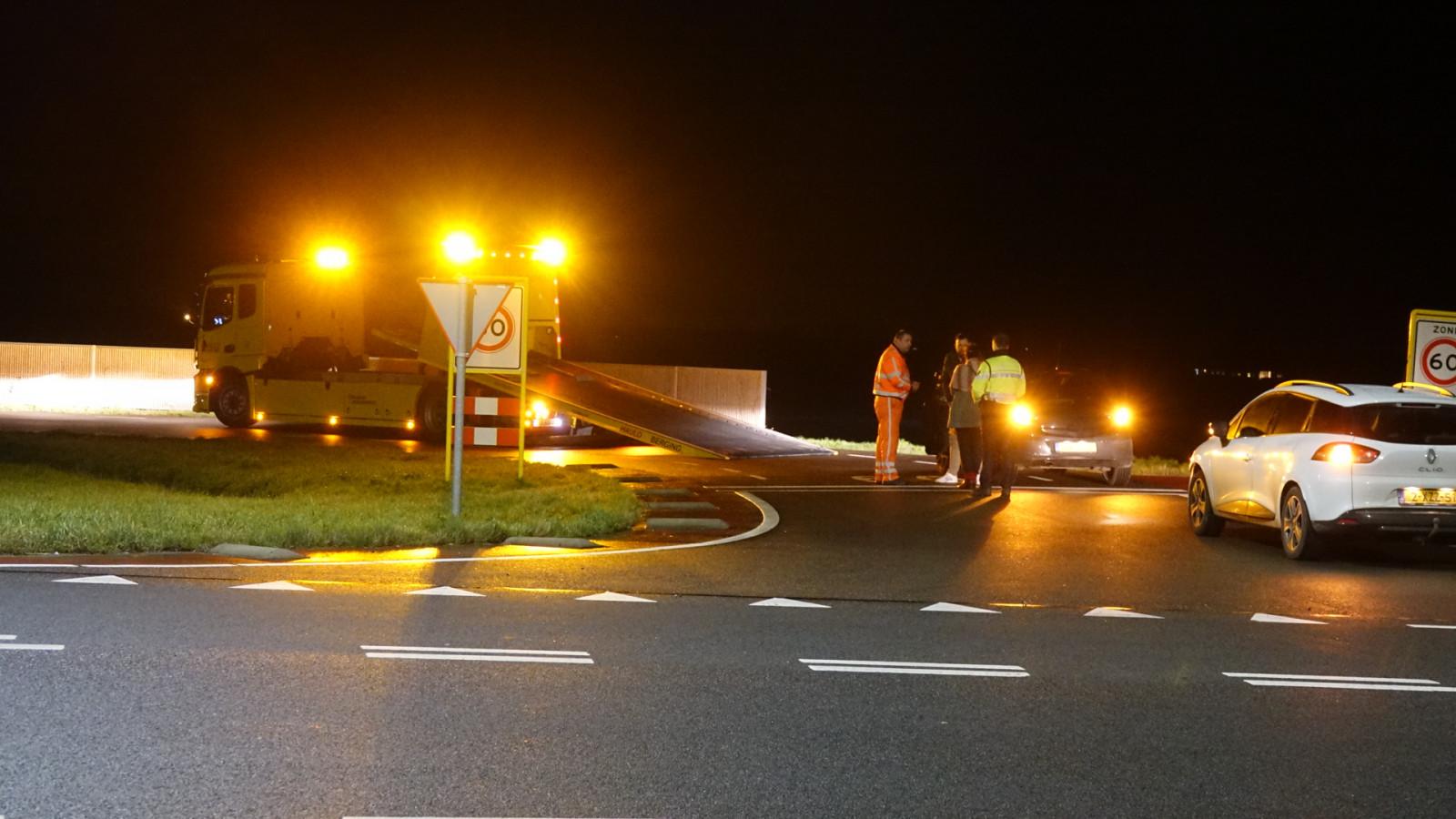 Ongeval op rotonde in Schagen.