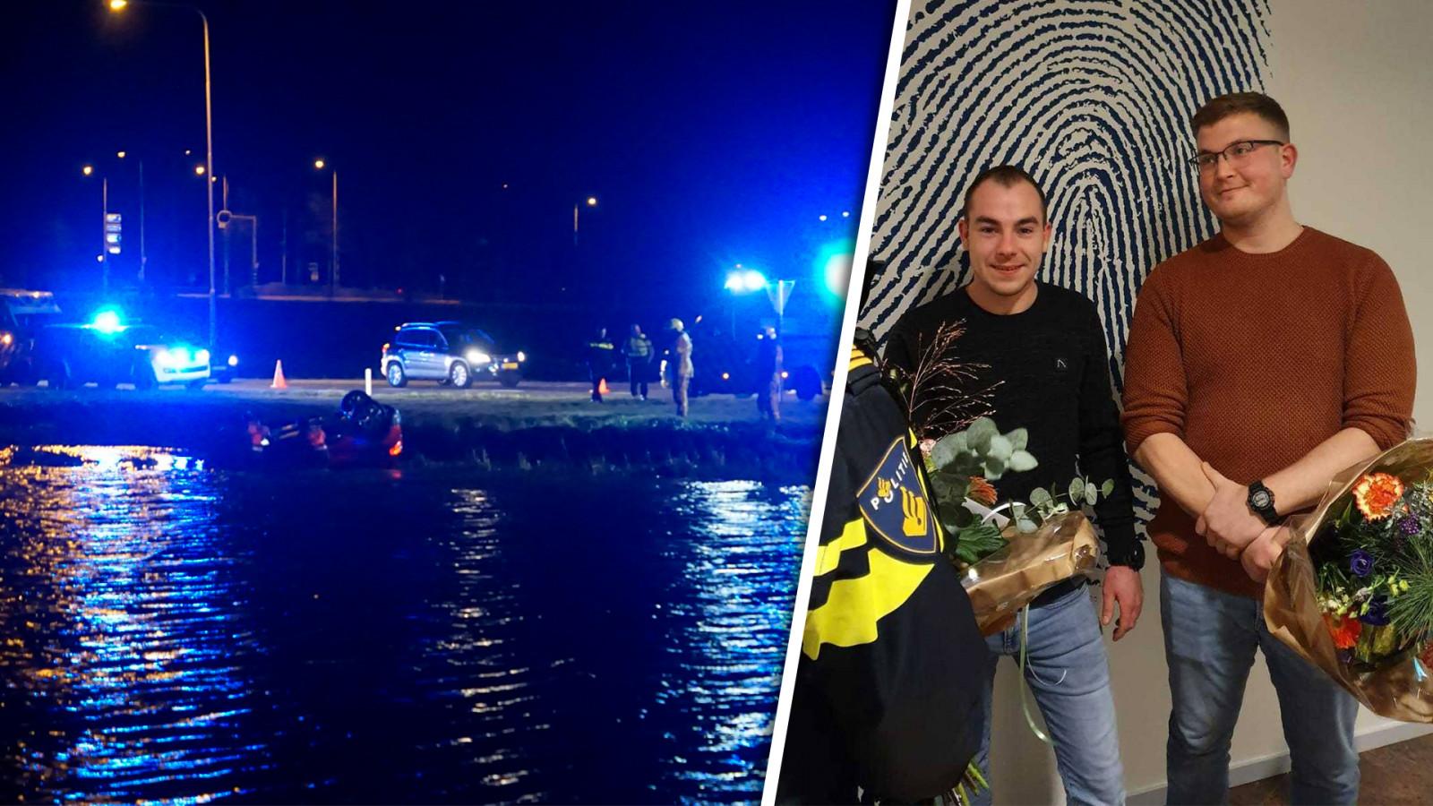 Politie prijst mannen voor heldhaftige reddingsactie na ongeluk in Schagen.