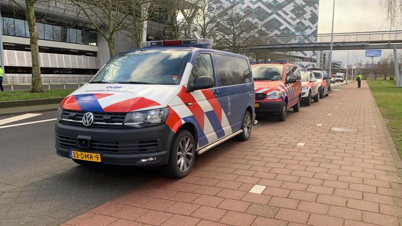 Politie met veel mankracht aanwezig op Schiphol