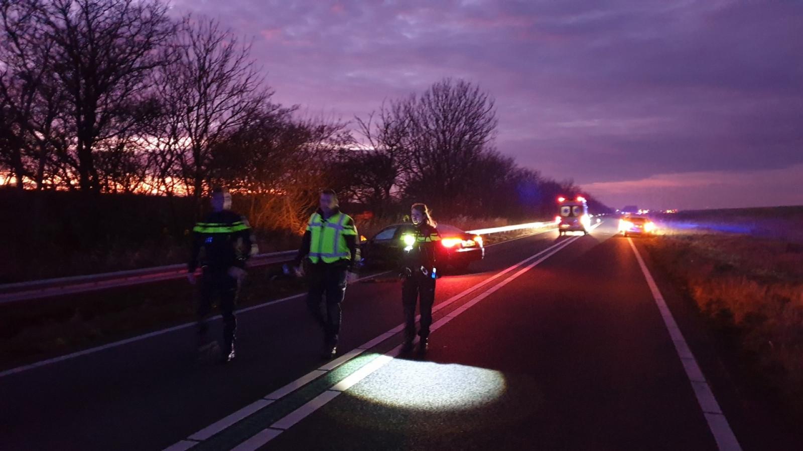 Ongeluk op N99 tussen Den Helder en Anna Paulowna: weg dicht.