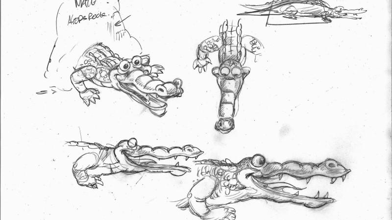 De krokodillenkop voorop de praalwagen