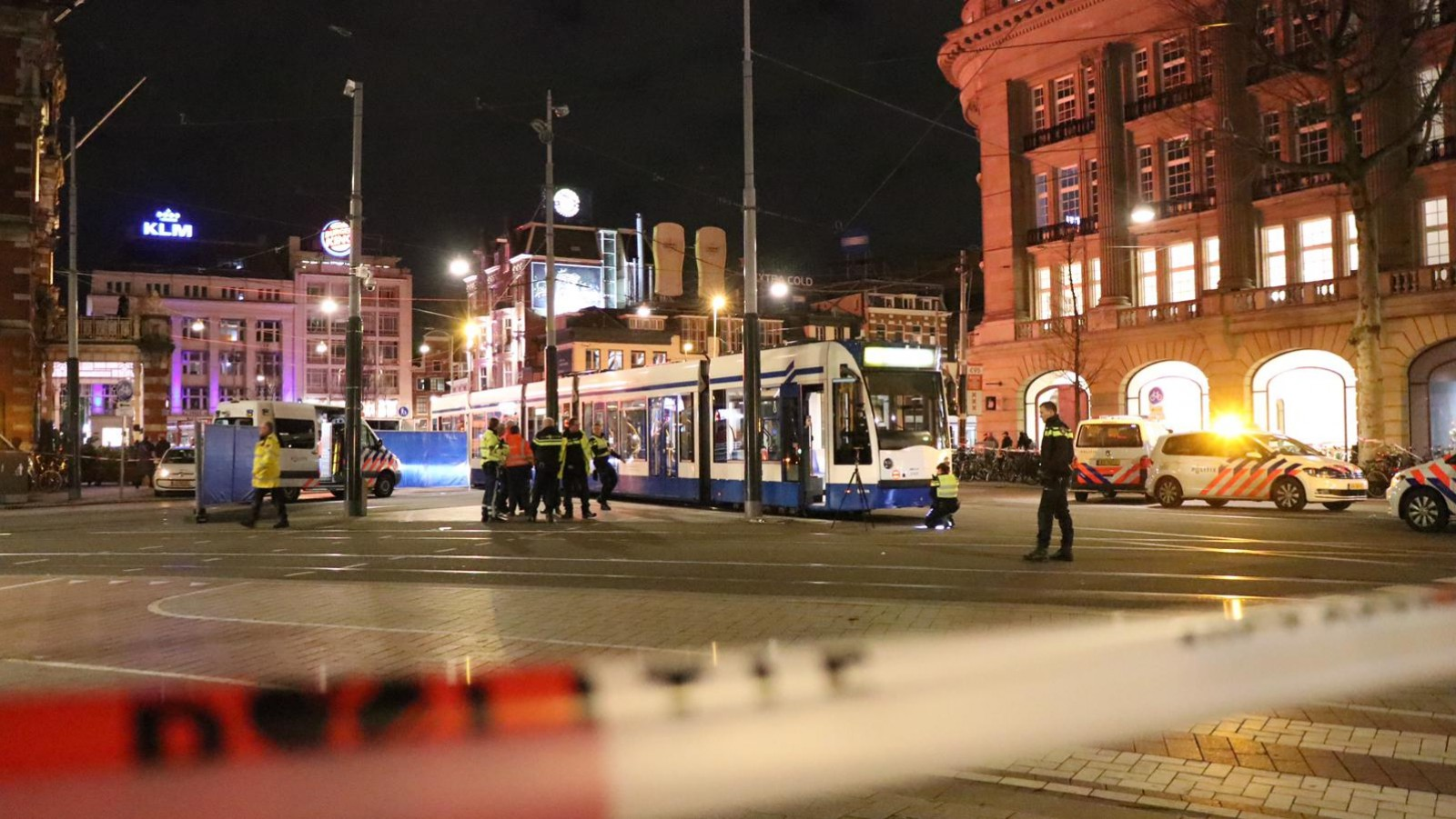 Fietser door tram aangereden op Leidseplein.