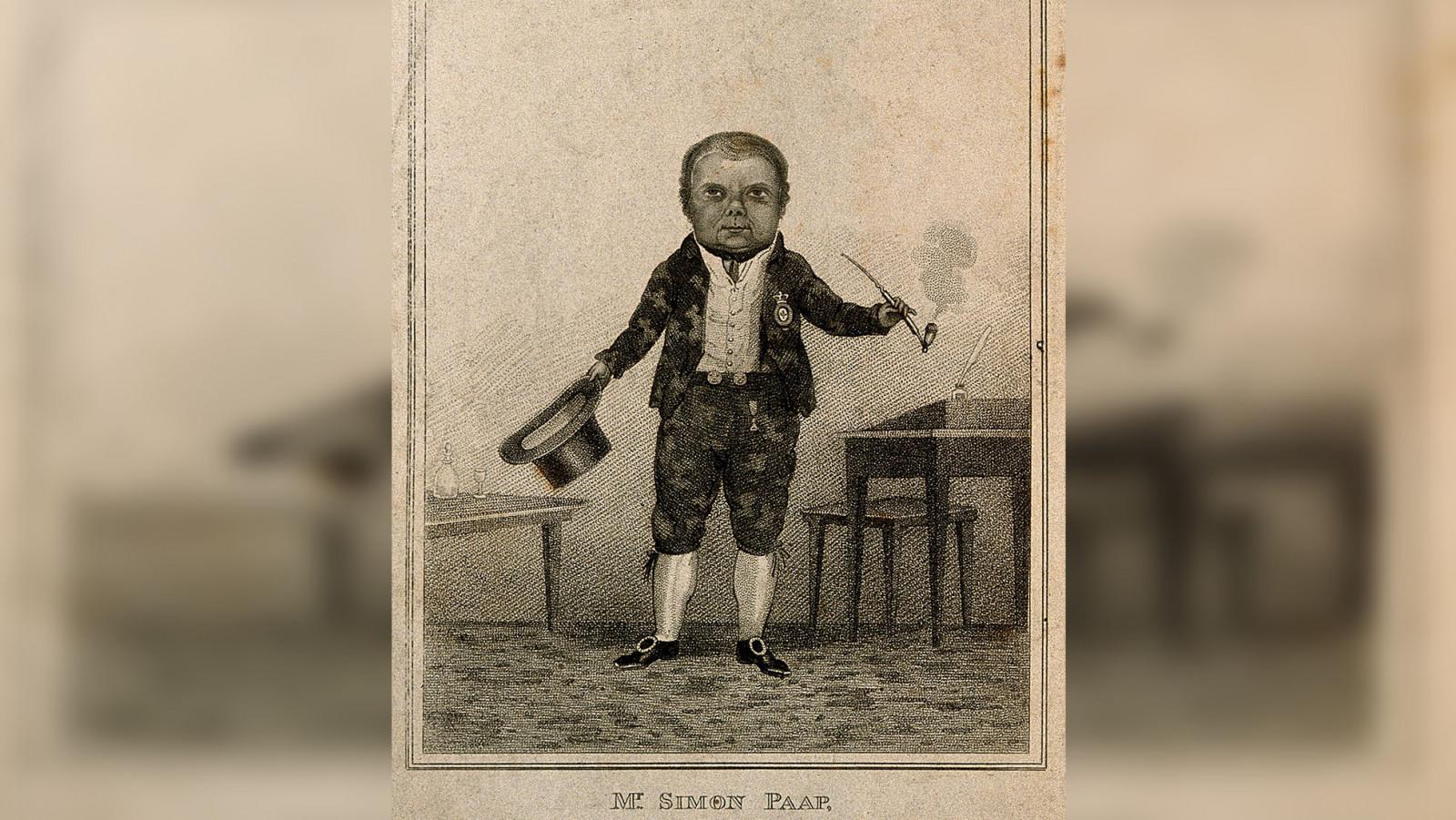 Simon Paap, a dwarf.  Stipple engraving, 1815. Wellcome Collection.