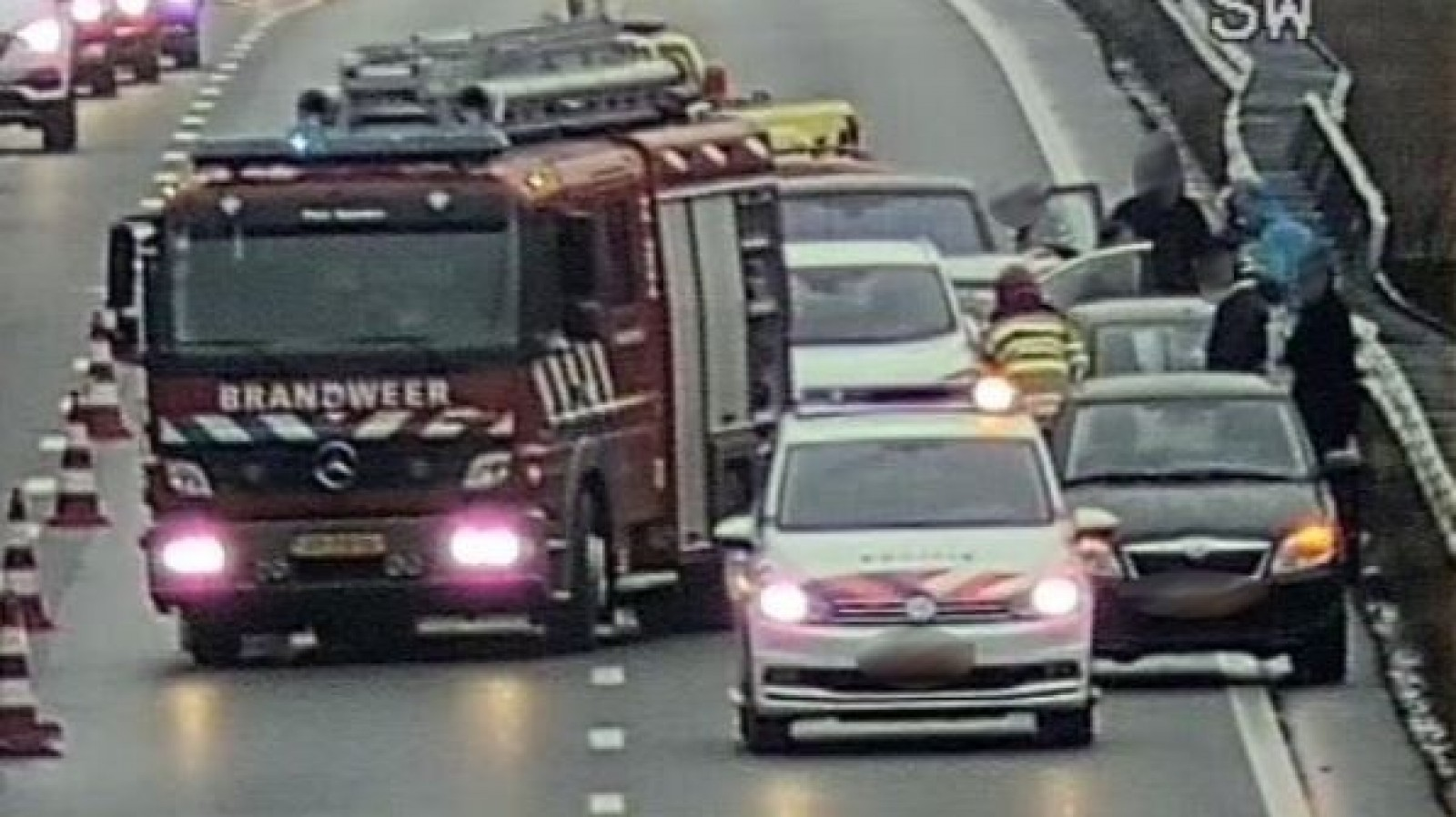 Half uur vertraging richting Amersfoort door ongeluk op A1 bij Naarden.