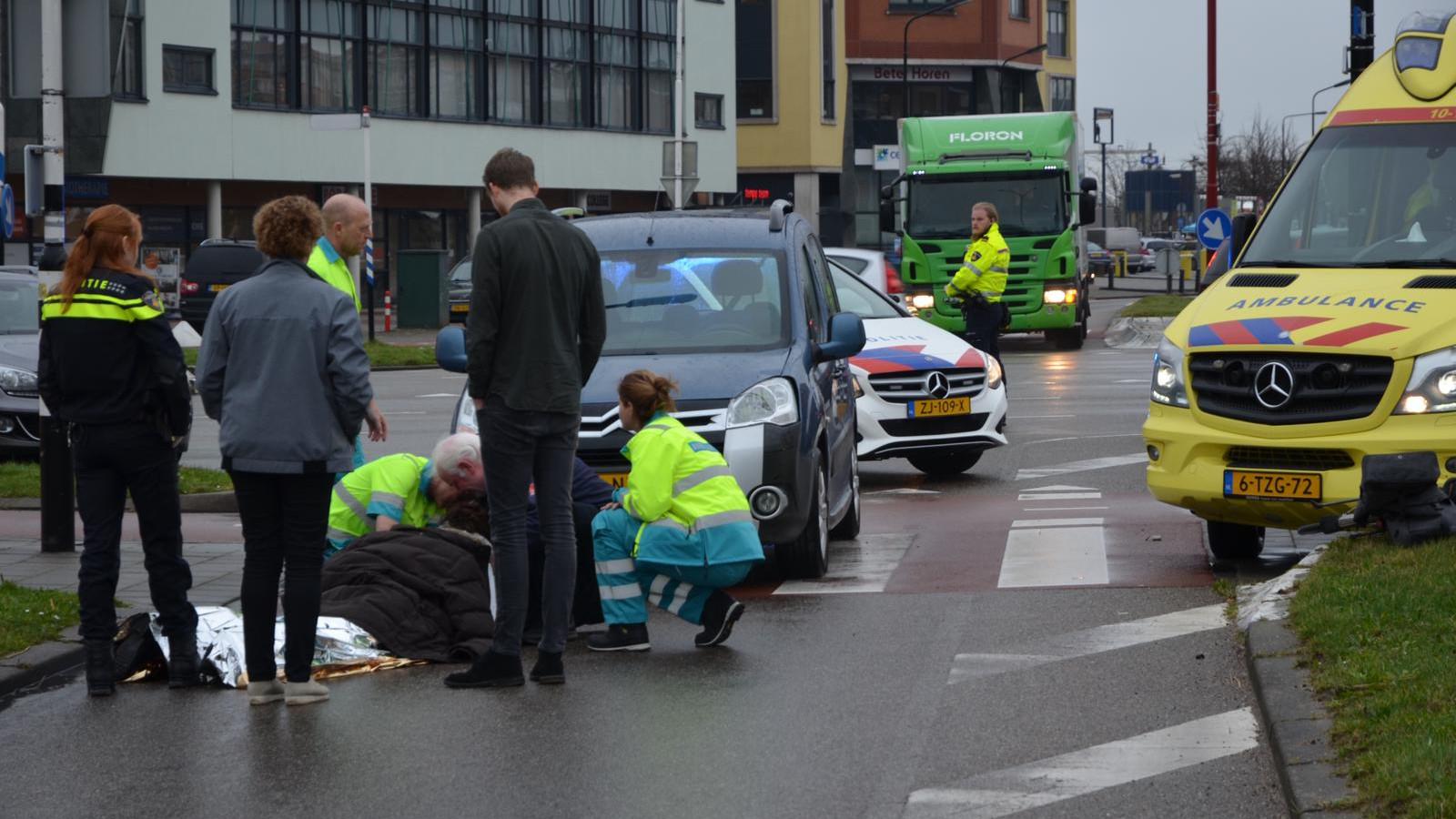 Fietsster gewond bij aanrijding in Heerhugowaard.