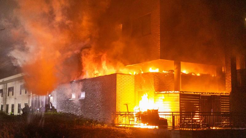 Grote brand Bastion hotel Santpoort-Noord