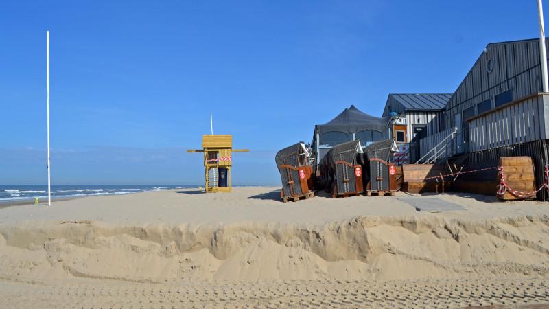 Stil op strand Egmond