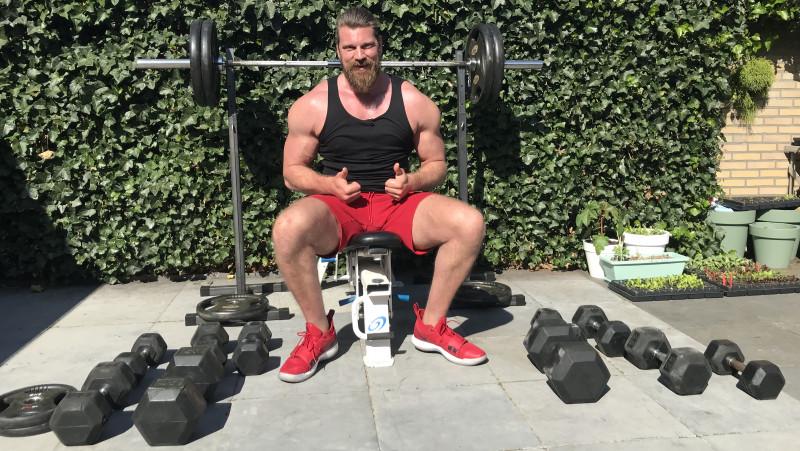 Acteur en bodybuilder Olivier Richters