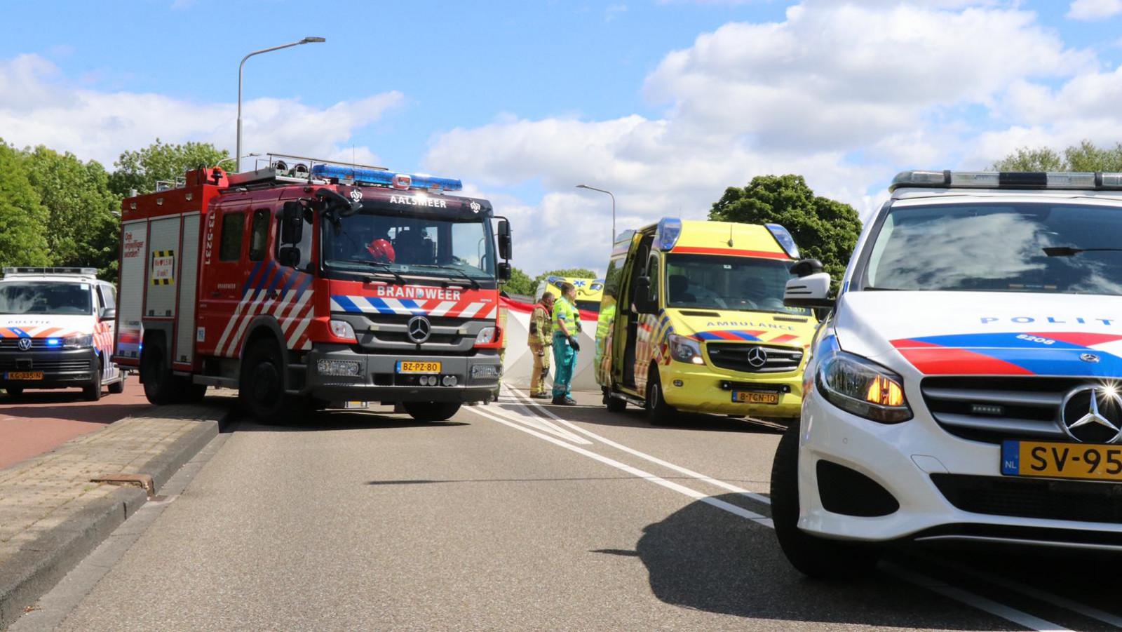 Wielrenner overleden na eenzijdig ongeluk in Aalsmeer.
