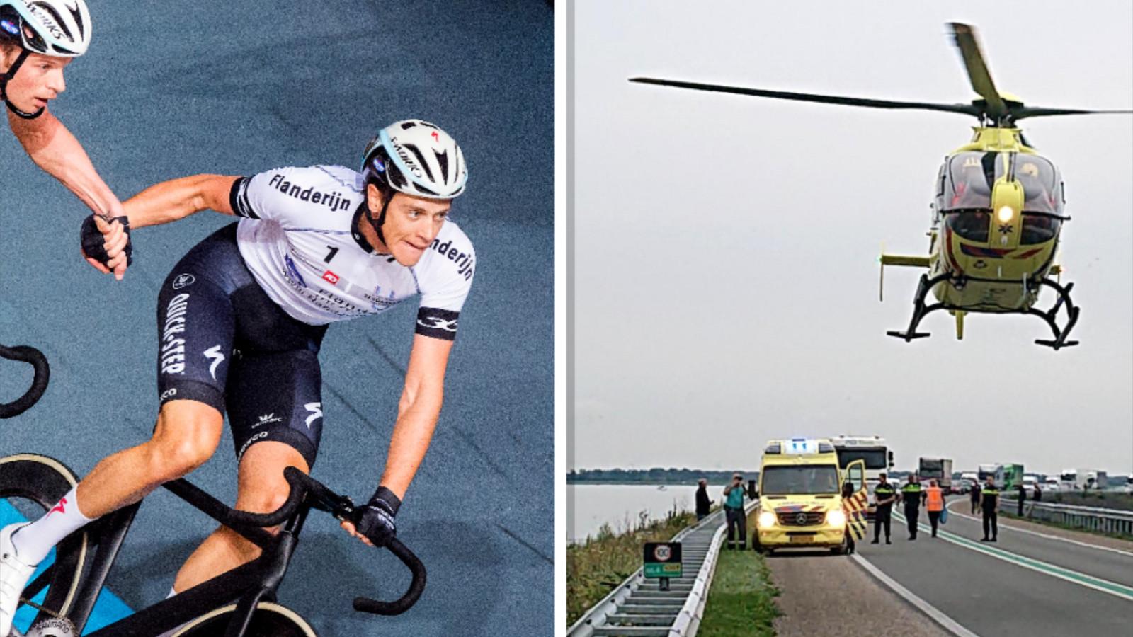 Wielrenner Niki Terpstra ernstig gewond in ziekenhuis na ongeluk op Markerwaarddijk.